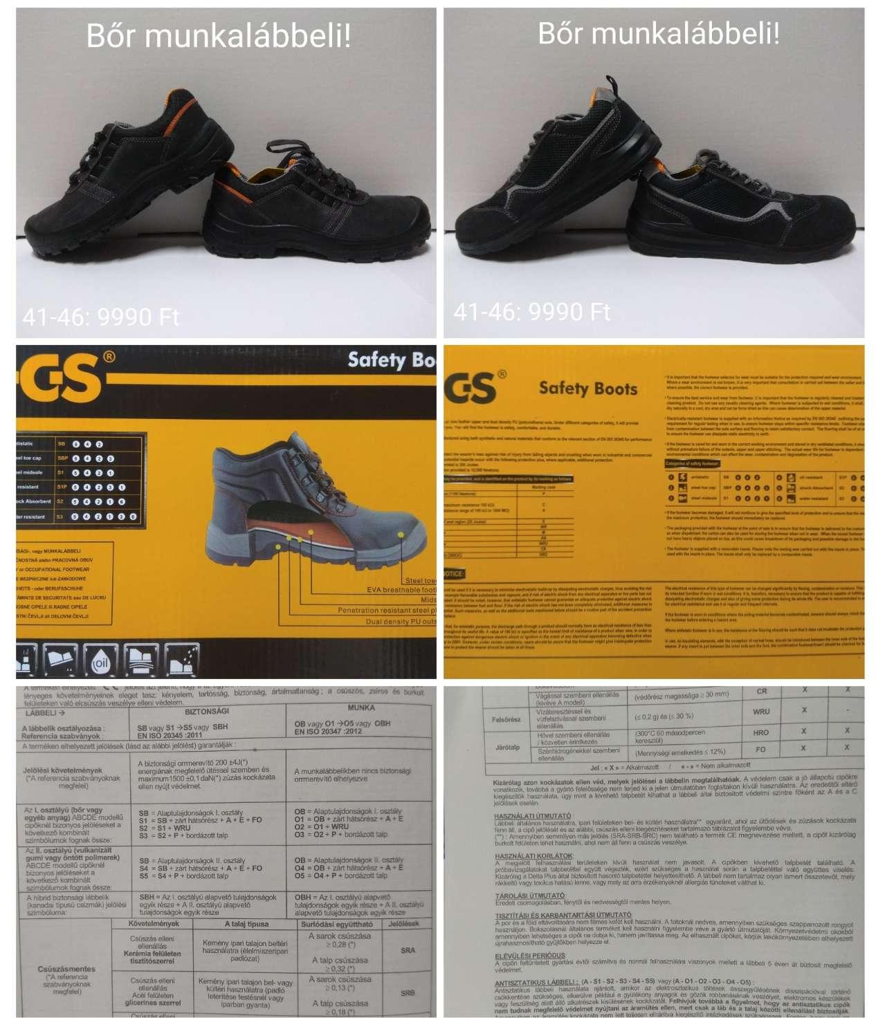 Munkavédelmi bőrcipő